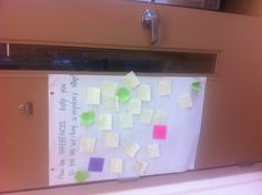 Exit pass on stickies on door on way out