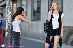 Katya Ledneva Paris juillet 2015. Shooting photo de mode par photosfashion.com Reportage photo par studio Bain de lumiere