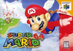 """Super Mario 64 was developed and published by Nintendo. The soundtrack was composed by Koji Kondo. Tracklist: """"It's a me, Mario! Nintendo 64 Games, Super Nintendo, Super Mario Bros, Nintendo Switch, Nintendo N64, Super Mario Games, Donkey Kong, Game Boy, Gi Joe"""