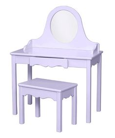 Little Colorado lavender vanity & bench on Zulily.