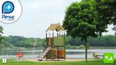 Aires de jeux du téléski nautique de Plessé sur l'étang de Buhel