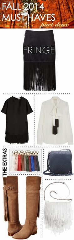 Fall 2014 Must Haves Part Deux: FRINGE BENEFITS <3Boots, tops, skirts, and purses OH MY! | www.TheWellSet.com