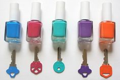 ***GENIUS!*** This has made fumbling for keys so much easier, hubby wants his done in man-ly colors...lol!