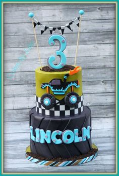 Monster Truck 3rd Birthday cake.