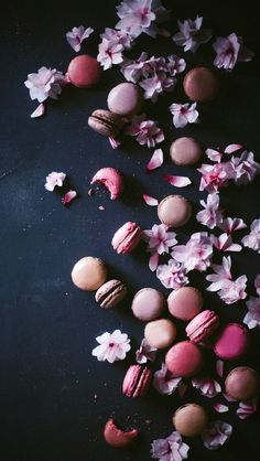 Cherry Blossom Macarons With Black Sesame Heard Macarons R Closed 2 Impossible To Do