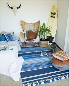 kids rooms from minted interiors - Home Decoration Boys Surf Room, Surfer Bedroom, Surfer Girl Bedrooms, Girls Bedroom, Chambre Nolan, Room Ideas Bedroom, Bedroom Decor, Bedroom Designs, Beachy Room