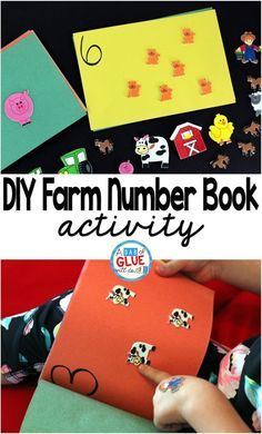 DIY Farm Number Book is the perfect activity to get your preschool or kindergarten students working on one to on correspondence and fine motor skills. This is a great addition to a math center.