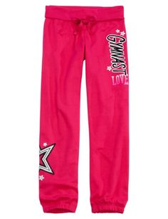 Sports Fleece Cuff Sweatpants   Girls Sweatpants Clearance   Shop Justice
