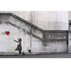 Banksy on Canvas - There Is Always Hope Balloon Girl