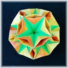Origami Maniacs: Robusta Kusudama By Maria Vahrusheva