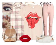 """the rose golden rule"" by beaniesandbowties ❤ liked on Polyvore featuring MadeWorn, Ted Baker, Lime Crime and BERRICLE"