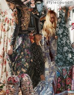 Style Council : Botanical Boho : Romantic hand painted florals, dried pressed stems, and etched wild flowers make up our new floral inspiration. Perfect for any season, these earthy boho floral creations have a passionate expression of line, color, and technique. Channel your inner Stevie Nicks and bring on the 70's gypsy vibes with our new transitional folk floral designs.