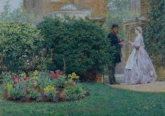My Front Garden, 1864 Painting by Frederick Walker Reproduction Most Famous Paintings, Oil Painting Reproductions, Love Art, Art Gallery, Image, British Artists, Google Search, Landscapes, Victorian
