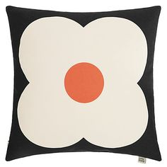 Buy Orla Kiely Abacus Flower Cushion, Slate Blue / Red Online at johnlewis.com