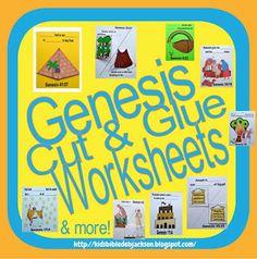 Bible Fun For Kids: Genesis Lapbook & Cut & Glue Student Worksheets