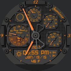 Survival Champ by Bone Head Design watch face preview