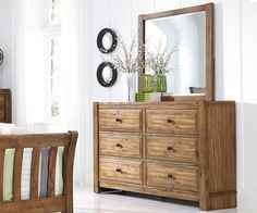 Bedroom Organization: Birnalla Dresser by Ashley Furniture at Kensington Furniture. Part of the Elements Collection by Ashley.