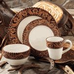Tooled dinnerware set, I have had my eye on these for years.