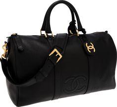 4f25c89a8f Borsa da viaggio di Chanel Borsone Da Viaggio, Borsette Alla Moda, Borse  Chanel,