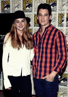 Shailene Woodley and Miles Teller at Comic-Con.