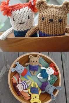 Free knitting pattern for an easy amigurumi stuffed toy.