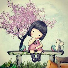 Pintura Art Drawings For Kids, Cute Drawings, Art For Kids, Cute Cartoon Girl, Ideias Diy, Whimsical Art, Cute Dolls, Cute Illustration, Pretty Pictures