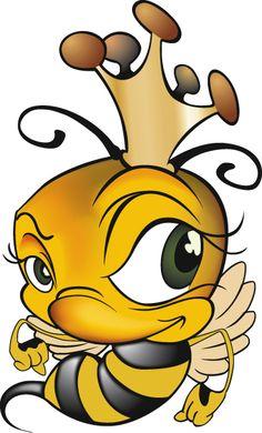 Saville Productions Queen Bee logo' by Jerry Bernard - Design . Art And Illustration, Queen Bee Tattoo, Cartoon Bee, Bee Images, Mascot Design, Cute Bee, Bee Design, Logo Design, Bee Art
