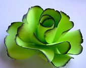 green paper flower