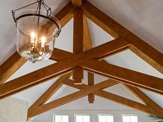 Scissor trusses lend visual interest in the HGTV Dream Home 2013 loft area.