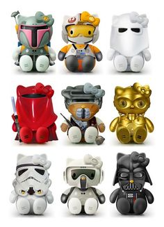 Hello Kitty Model Kits. Wow. So it says you can make them from Star Trek to Marvel Heroes. Yay! I like Hello Kitty and Star Trek. Works for me.