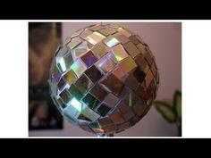 Manualidades de reciclaje - Bola Espejada - Mirror Ball