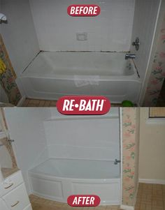Bathroom Remodel Makeover Before And After Shower Brought To You By Re Bath Of The Triad Afters