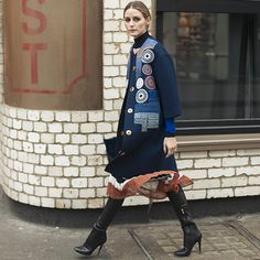 Snapped: Mixing it Up   Olivia Palermo #LFW #AW16