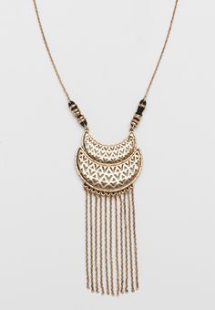 half moon pendant necklace with chain fringe (original price, $14.50) available at #Maurices