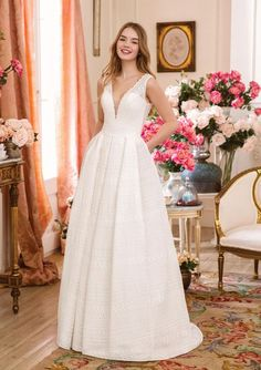 Sweetheart Gowns - Style Allover Venice Lace A-line Gown Wedding Dress Trends, Used Wedding Dresses, Wedding Dress Shopping, Wedding Dress Styles, Sweetheart Bridal, Sweetheart Wedding Dress, Wedding Dress With Pockets, Perfect Wedding Dress, Bridal Gowns