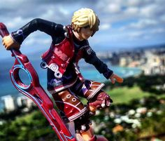 See!  It didn't take him long at all. I bet he warped there.  Cheater!  The pink blob above and to the right of his hand is where the last pic was taken. #shulk #xenoblade #xenobladechronicles #shulkamiibo #amiibo #customamiibo #art #nintendo #SmashBros #
