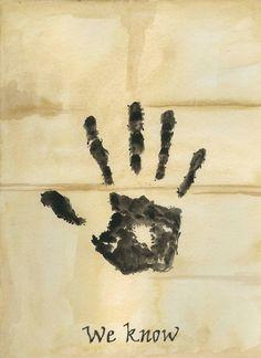 We Know, Skyrim- Dark Brotherhood letter, 8x10 print of watercolor illustration