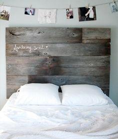 Wanddeko modern holz  Wanddeko aus Holz schlafzimmer ideen bett kopfteil holz | Home ...