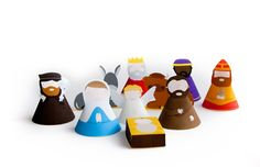 Marloes de Vries | blog: DIY: Make your own nativity set - download, to color or just print - your choice