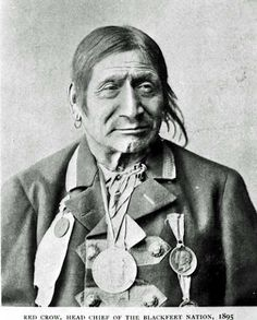Photo by Ernest Brown, 1895 / Red Crow, Head Chief of the Kainai (Blackfoot). Native American Photos, Native American Tribes, Native American History, American Symbols, Blackfoot Indian, Native Indian, Sioux, Red Crow, Montana
