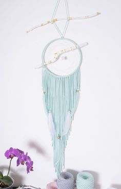 Bohemian Mint Dream catcher Nursery Dreamcatcher Wedding