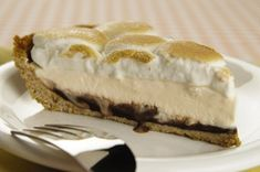 S'more Meltaway Pie recipe  Looks so good.  Wish I had a piece right now!