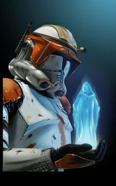 Star Wars - Clone Commander Cody receiving Order 66 from Emperor Palpatine