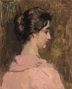 Isaac Israëls - A PORTRAIT OF SARA MEYER; Medium: oil on canvas