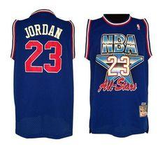 Bulls #23 Michael Jordan Blue 1992 All Star Stitched NBA Jersey