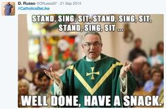 """This tweet that describes the """"Catholic workout"""": 