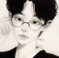 Kpop Drawings, Art Drawings Sketches Simple, Cute Drawings, Pretty Art, Cute Art, Poses References, Arte Sketchbook, Mini Canvas Art, Korean Art