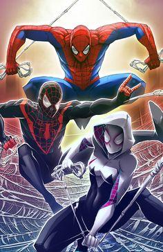 #Spiderman #Fan #Art. (Spider people) By: Pechan. (THE * 5 * STÅR * ÅWARD * OF: * AW YEAH, IT'S MAJOR ÅWESOMENESS!!!™)[THANK Ü 4 PINNING!!!<·><]<©>ÅÅÅ+(OB4E)
