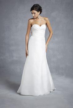 Brides.com: . Style BT15-27, Beautiful Collection satin organza sweetheart sheath, $820, Enzoani