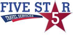 Five Star Travel Five Star, Logos, School, Travel, Viajes, Logo, Destinations, Traveling, Trips
